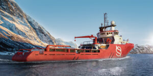 3D model visualization of anchor handling vessel by Sodoma Atelier