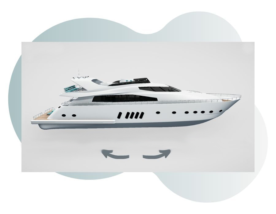 360 Interactive 3D model of yacht design