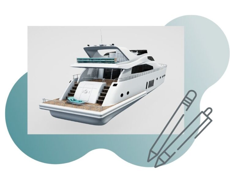 Interactive 3D visualizations of a yacht