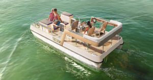 Paddle boat design 3D visualization - Serenity550 Fitness Silent Boats