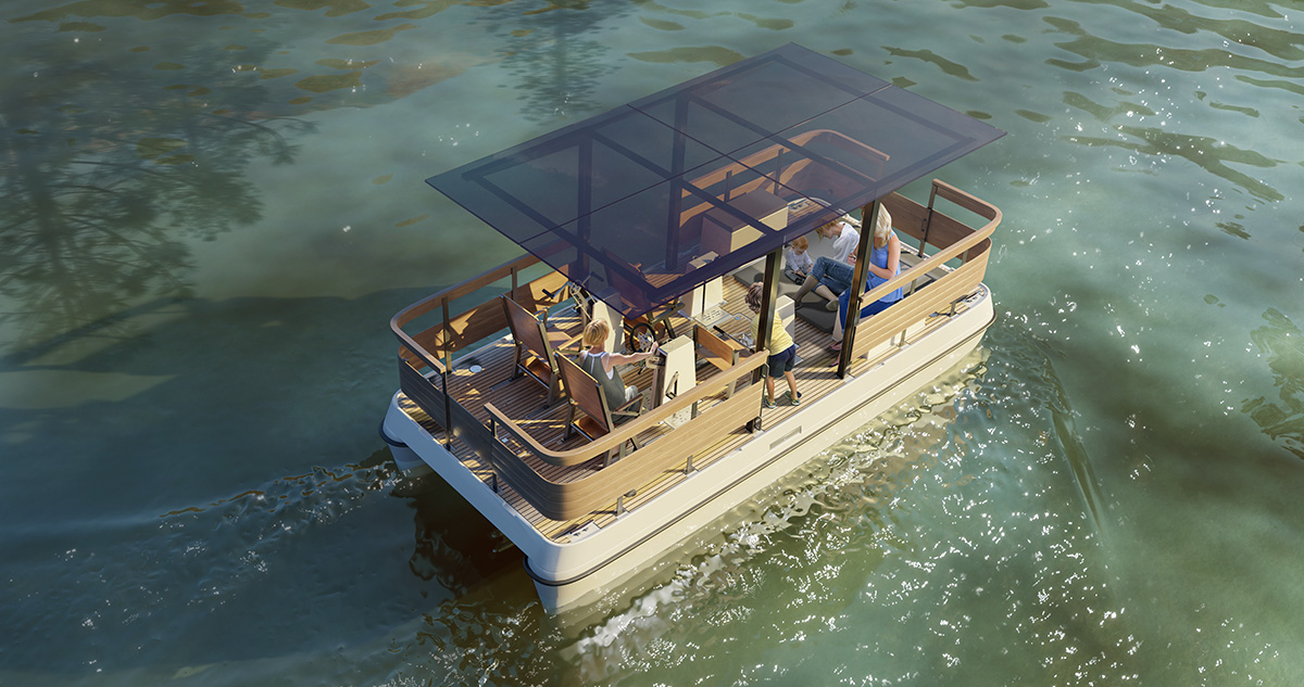 Family paddle boat design visualizations Serenity550R Fitness