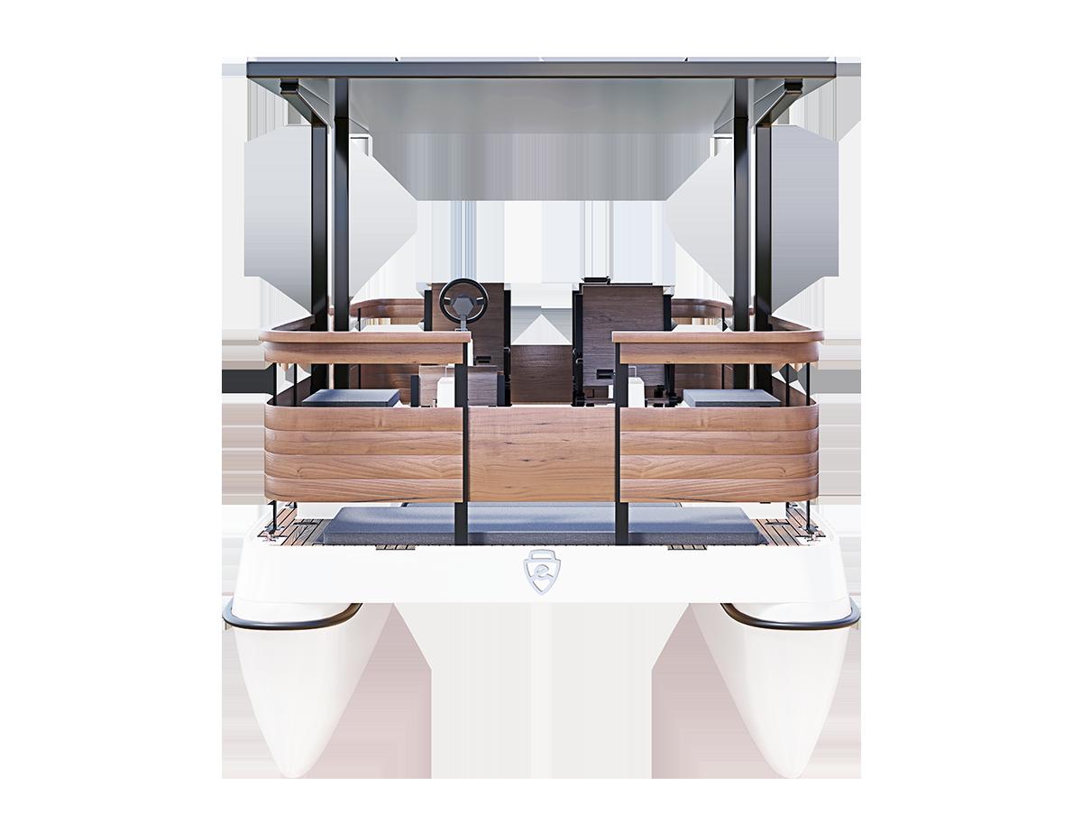 Paddle boat design 3D visualization