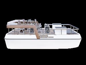 Paddle boat with bimini visualization