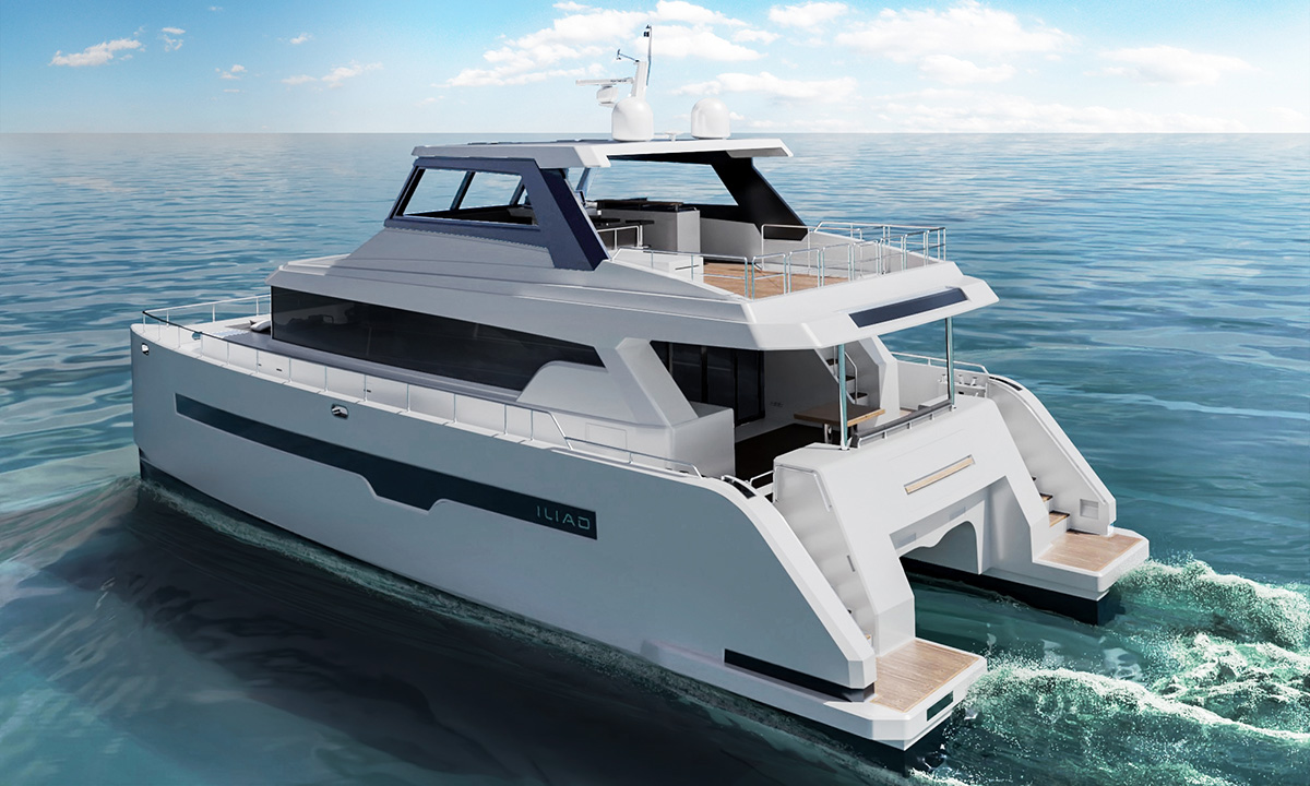 3D Catamaran Design Visualization