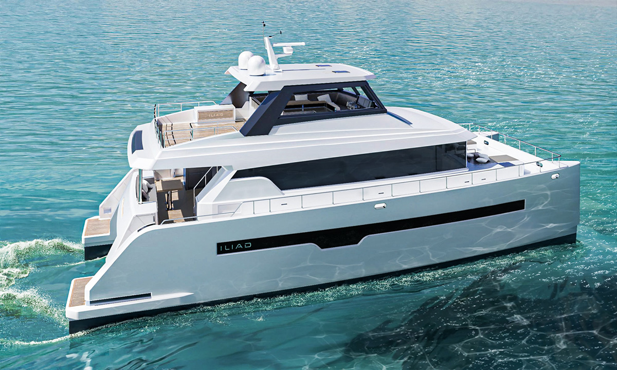 3D Yacht Design Visualization Catamaran