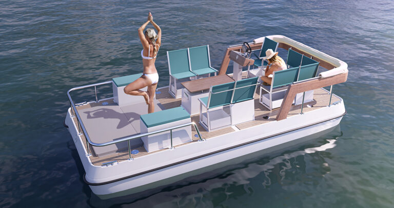 Modern electric paddle boat
