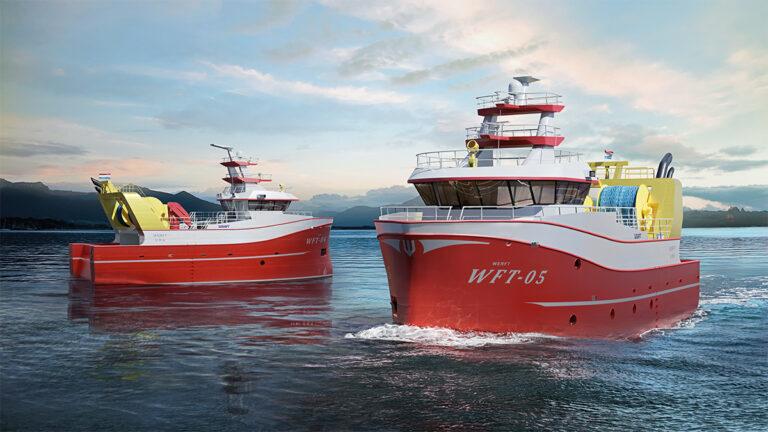 Werft Shipbuilding 3D trawler visualization