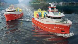 3D fishing vessel renderings