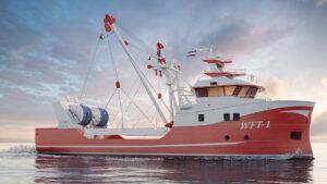 Werft Shipbuilding - Fishing vessel 3D visualization