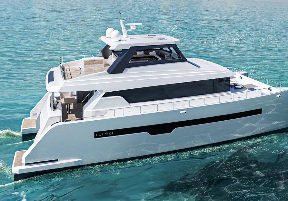 3D Yacht Design Visualization Catamaran